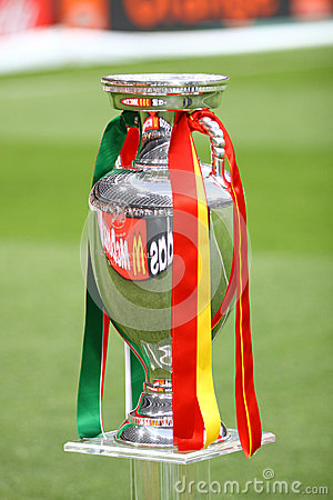 UEFA EURO 2012 Football Trophy (Cup) Editorial Stock Photo