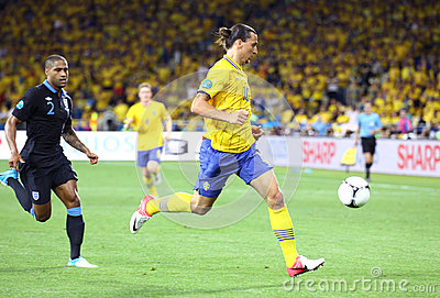 UEFA EURO 2012 game Sweden vs England Editorial Photography