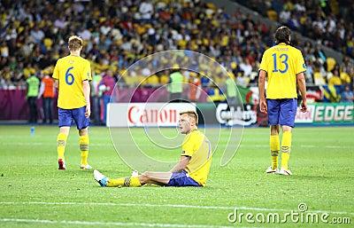 UEFA EURO 2012 game Sweden vs England Editorial Image