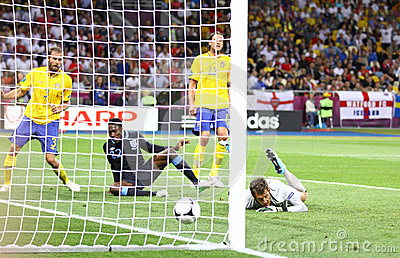 UEFA EURO 2012 game Sweden vs England Editorial Stock Image