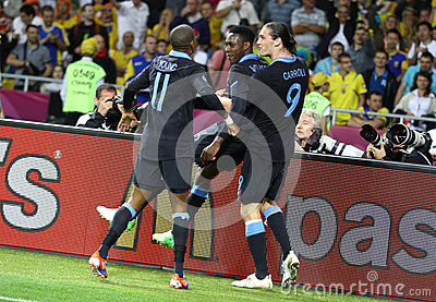 UEFA EURO 2012 game Sweden vs England Editorial Stock Photo