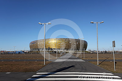 UEFA EURO 2012 STADIUM -PGE ARENA, GDANSK, POLAND Editorial Stock Photo