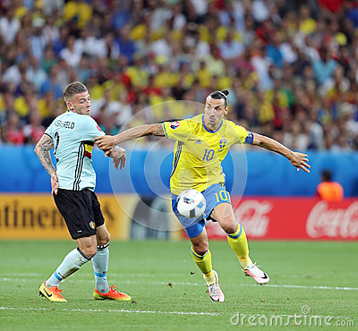 Free UEFA EURO 2016: Sweden V Belgium Royalty Free Stock Image - 78268116