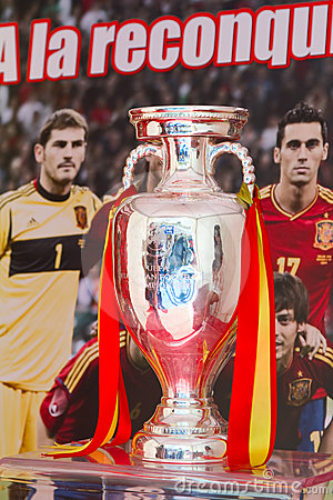 UEFA Euro Trophy Editorial Image