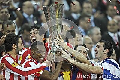 UEFA Europa League Final Bucharest 2012 Editorial Photography