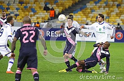 UEFA Europa League game FC Dynamo Kyiv vs Bordeaux Editorial Photography