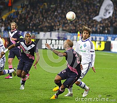 UEFA Europa League game FC Dynamo Kyiv vs Bordeaux Editorial Stock Photo
