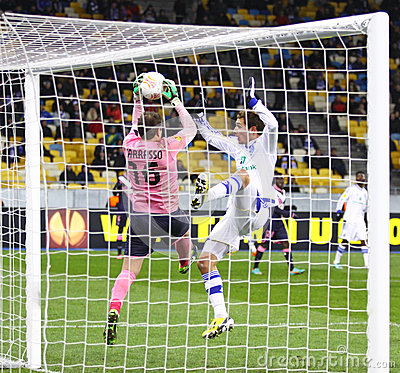 UEFA Europa League game FC Dynamo Kyiv vs Bordeaux Editorial Stock Photo