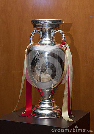 UEFA European Football Championship trophy Editorial Photography