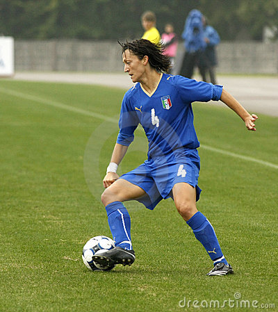 UEFA FEMALE SOCCER CHAMPIONSHIP 2009,ITALY-HUNGARY Editorial Photo
