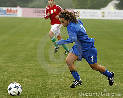 UEFA FEMALE SOCCER CHAMPIONSHIP 2009,ITALY-HUNGARY Editorial Photography