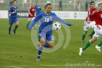 UEFA FEMALE SOCCER CHAMPIONSHIP 2009,ITALY-HUNGARY Editorial Image