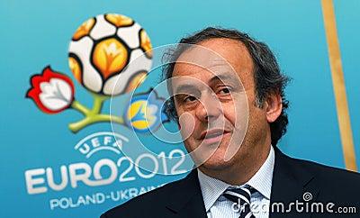 UEFA President Michel Platini Editorial Stock Image