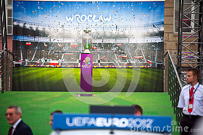 UEFA Trophy Tour Editorial Image