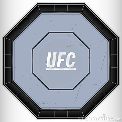 UFC Ring Editorial Stock Photo