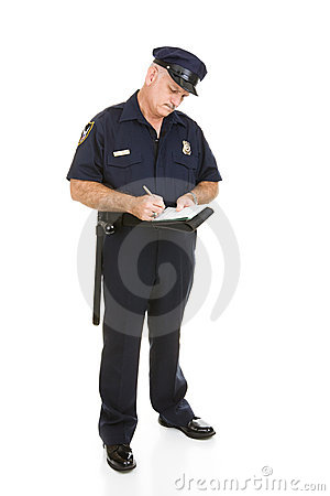 Ufficiale di polizia - ente completo di citazione