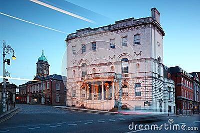 Ufficio di tassi a Dublino, Irlanda.