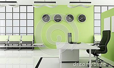 Ufficio verde con stazione di sosta fotografia stock for Ufficio verde