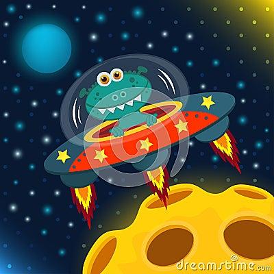 Free UFO Alien Royalty Free Stock Photography - 33464437