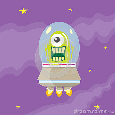 Free Ufo. Alien Vector. Flying Saucer Royalty Free Stock Image - 58903056