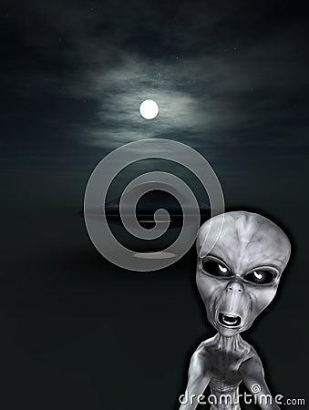 UFO avec l étranger fâché