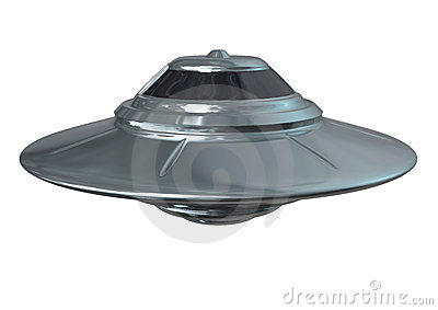 UFO brillante Iisolated