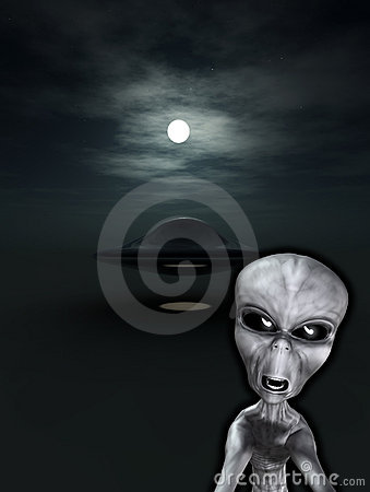UFO con el extranjero enojado