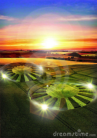 Free Ufo Crop Circle Stock Images - 15827194