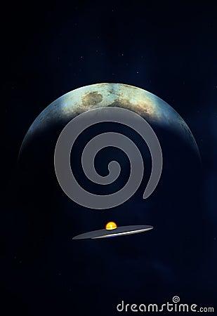 UFO de encontro à lua