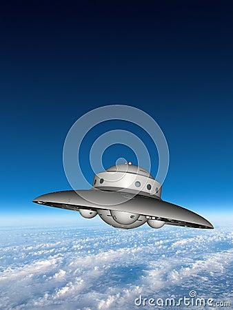 Free UFO Flying Saucer Alien Spaceship Stock Image - 49043961