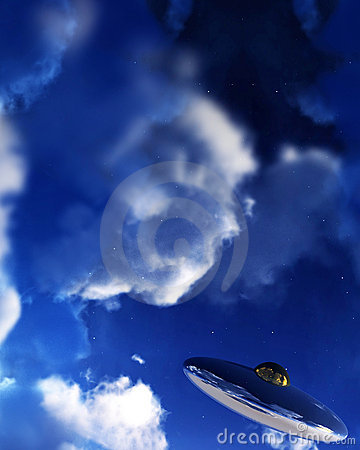 Free UFO In Sky 15 Royalty Free Stock Photos - 3318508