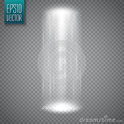 Free UFO Light Beam On Transparent Background. Magic Spotlight. Vector Stock Image - 83201121