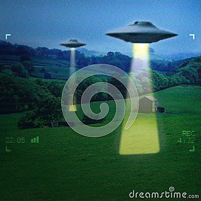 UFO in a meadow