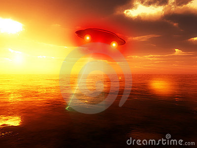 UFO Over Water 2