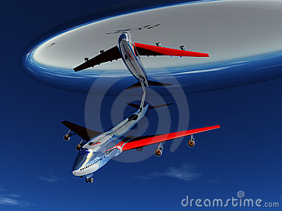 UFO And Plane