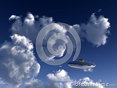 UFO In Sky 5