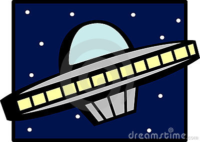 Ufo space ship vector illustration