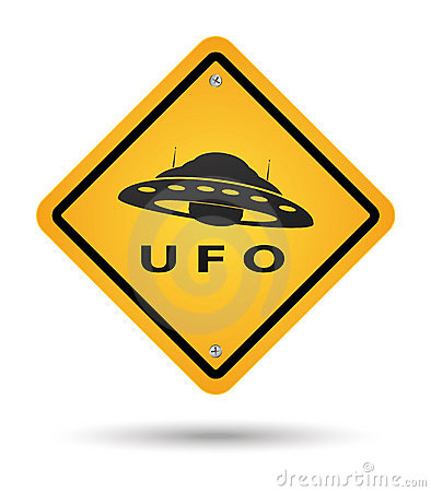Ufo yellow sign