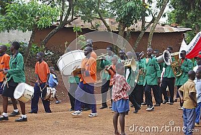 Uganda Childrens Parade Editorial Photo