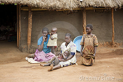 Uganda Family Editorial Photo