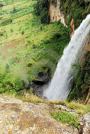 Uganda Waterfall Royalty Free Stock Photo - Image: 12736815