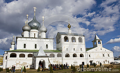 Uglich, Russia, Resurrection monastery Editorial Stock Photo