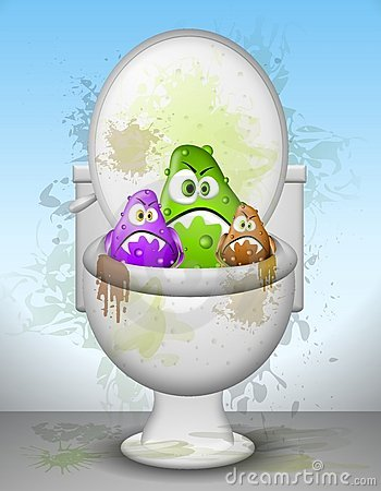 Free Ugly Dirty Toilet Bowl Germs Royalty Free Stock Photography - 5421287