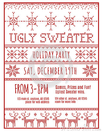 Ugly Holiday Sweater Party Invitation