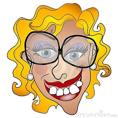 Ugly Netty Young Woman Smiling Royalty Free Stock Photography - Image ...