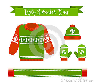 Ugly sweater day. Vector Illustration