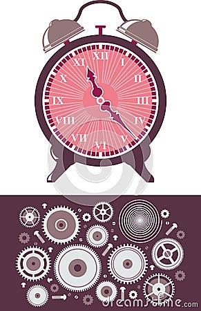 Uhr und Gänge