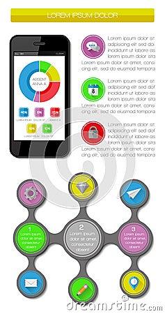 Элементы Ui, infographics и сеты включая плоский d