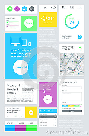 UI is a set components featuring the flat design