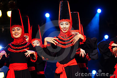Uighur Dancers Editorial Photography